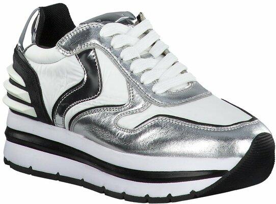 Gisy: Voile Blanche Sneaker mit Plateau 624706 (SilberWeiß