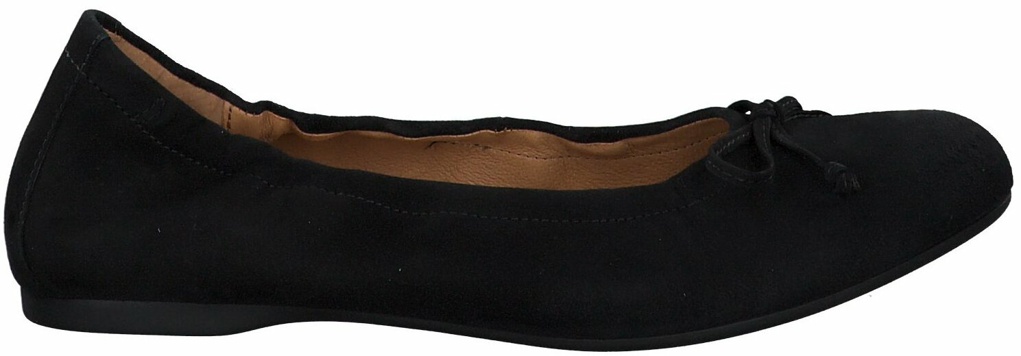 Gabor Damen Ballerinas aus Leder in Schwarz Slipper für