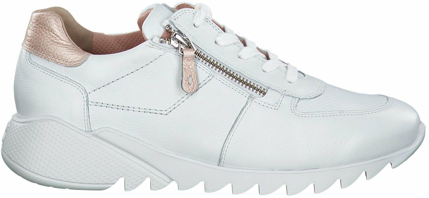 Gisy: Paul Green Damen Sneaker aus Leder 770486 (Weiß