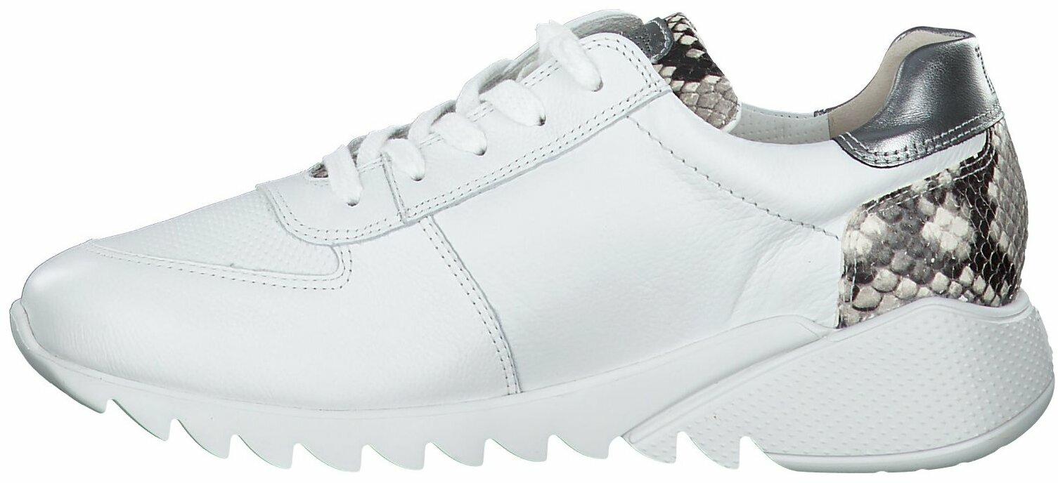Gisy: Paul Green Damen Sneaker aus Leder 786019 (Weiß