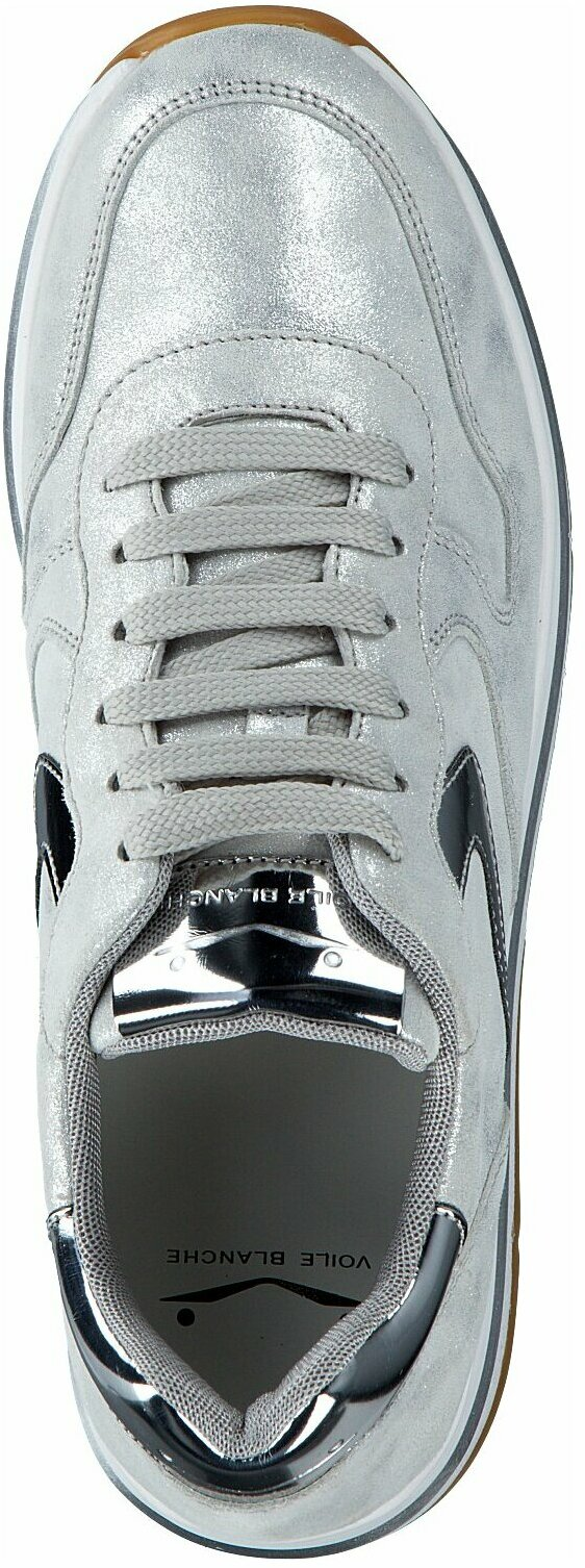 Gisy: Voile Blanche Plateau Sneaker für Damen 659046 (Silber
